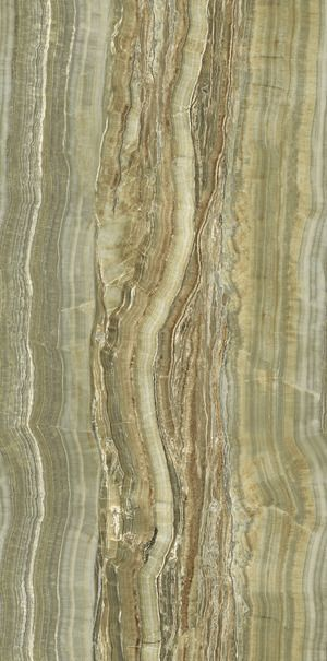 Ariostea Ultra Onici Green Onyx Vein Cut Luc Shiny 150x75