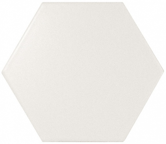 Equipe Scale Hexagon White Matt 10,7x12,4