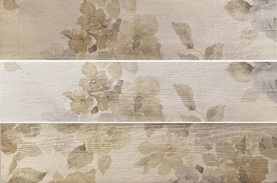 Fioranese Painted Wood Floral White 13x61