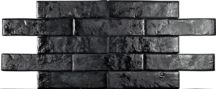 Pamesa Brickwall Negro 7x28