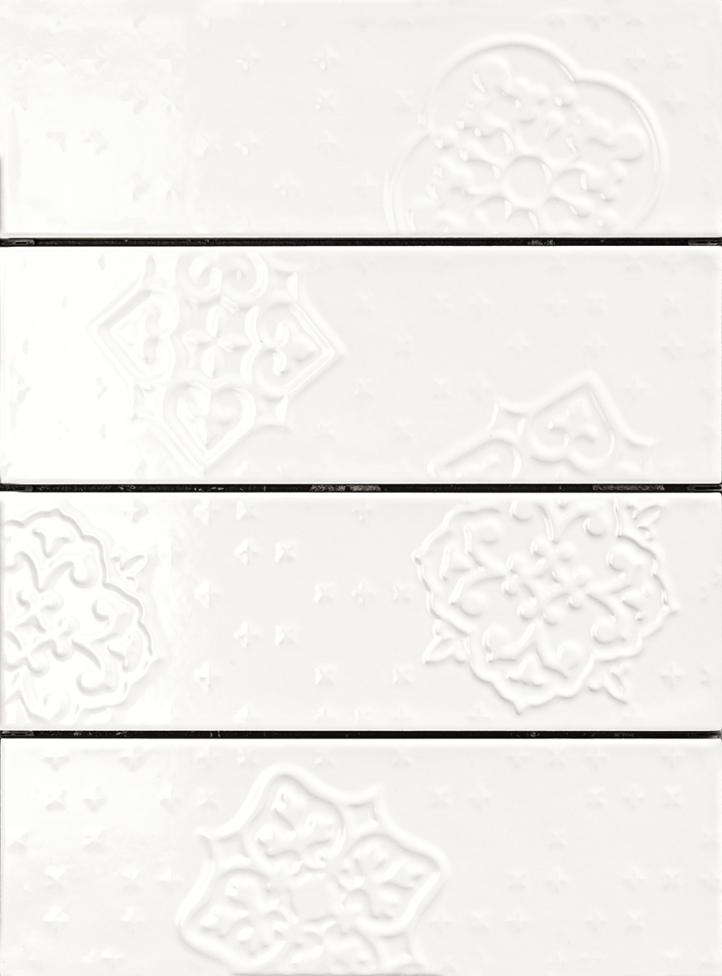 Ragno Brick Glossy White Decoro Mix4 10x30