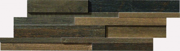 Fioranese Cottage Wood Mosaico Multilevel Mix 4 Colori 12x45