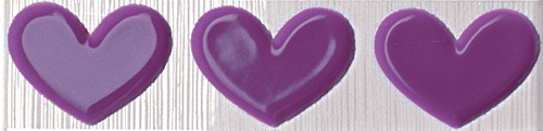 FAP Pop Up Heart Lilac Listello 6x25