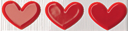 FAP Pop Up Heart Red Listello 6x25