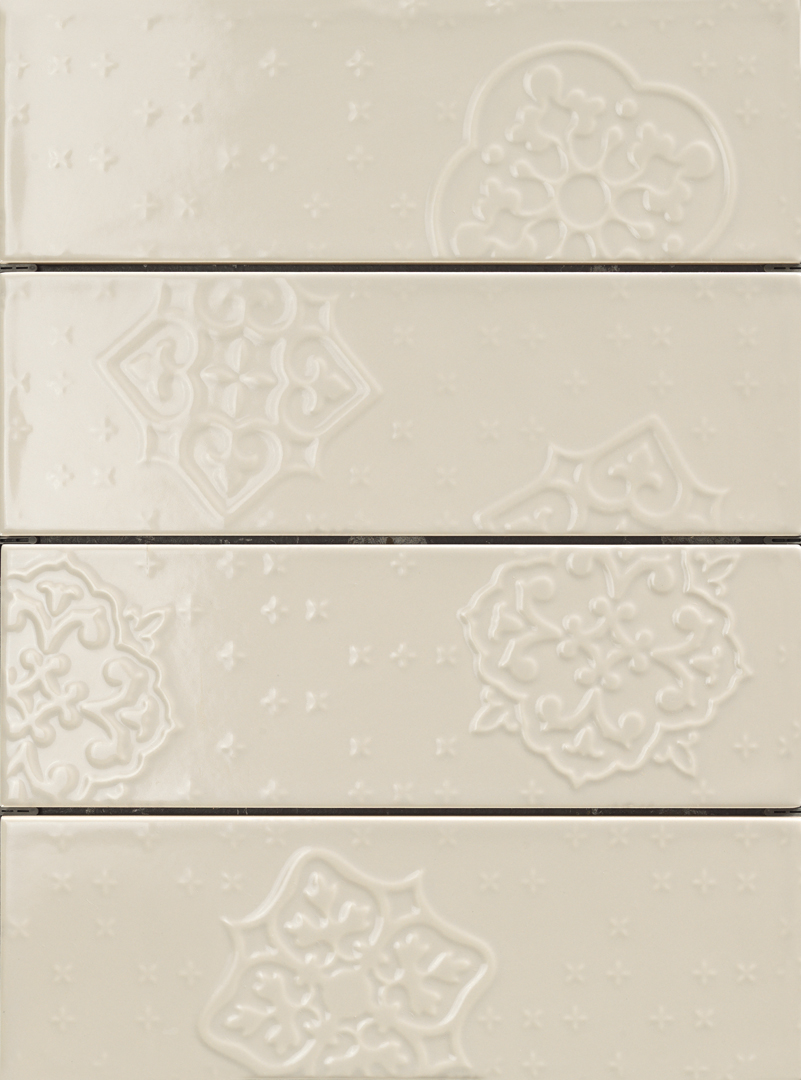 Ragno Brick Glossy Grey Decoro Mix4 10x30