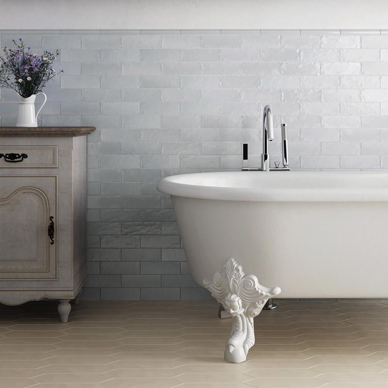 Grey ceramic wall tiles